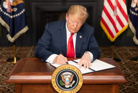 President Trump signing legislation