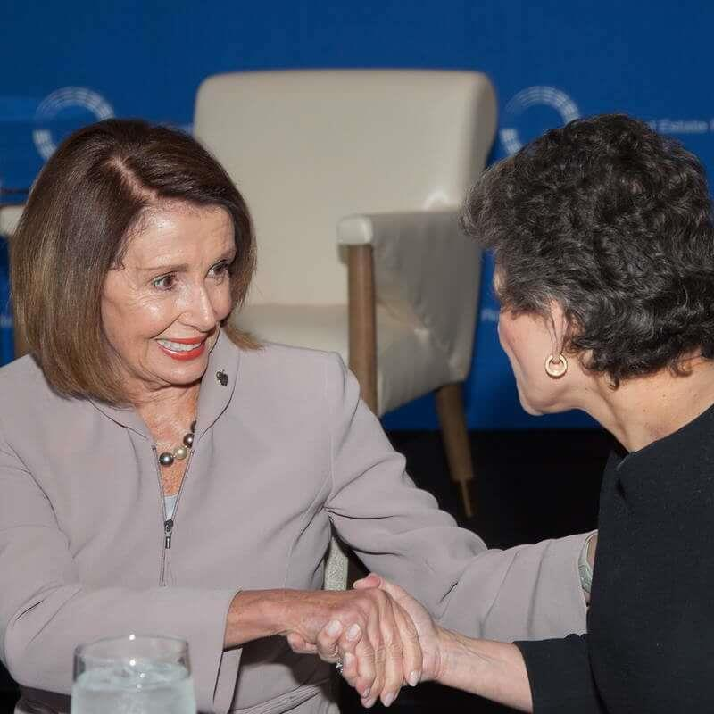 Rep. Nancy Pelosi (D-CA) & Roundtable Chair Debra A. Cafaro (Chairman and CEO, Ventas, Inc)