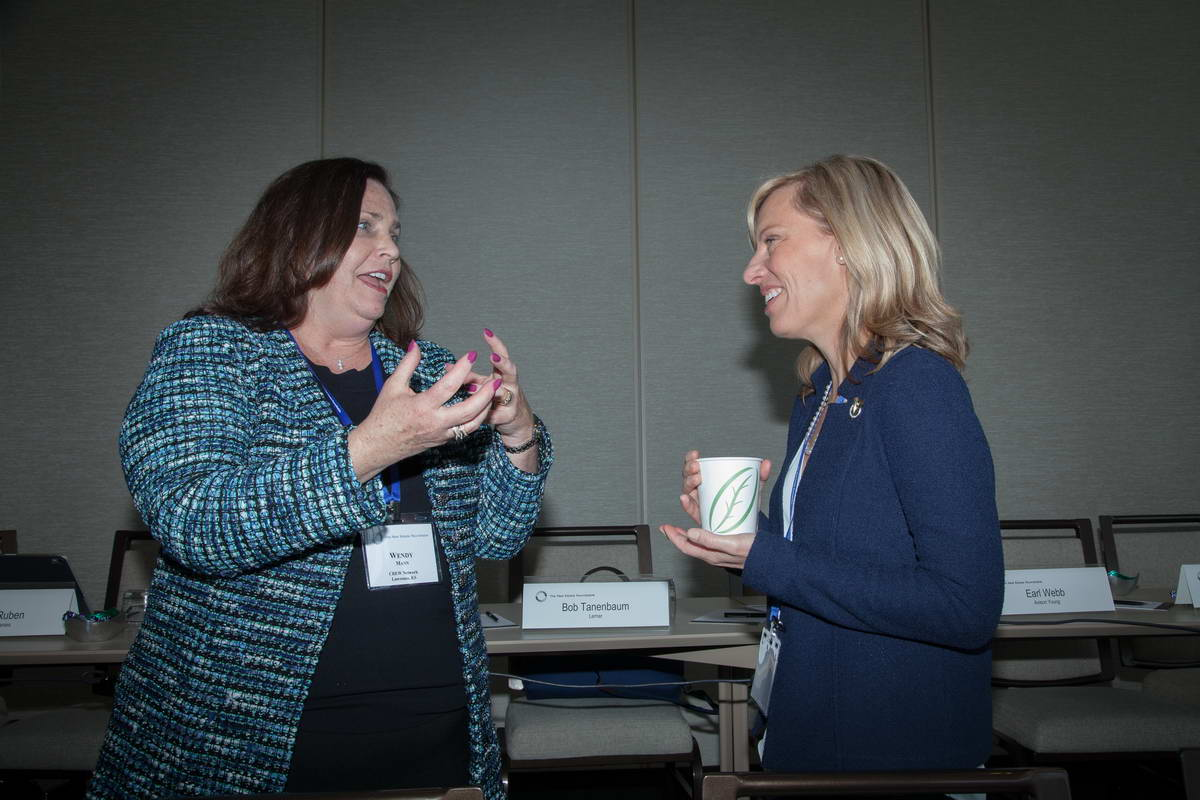 Wendy Mann (CREW Network) and Holly Neber (CREW Network - President 2019, AEI Consultants)