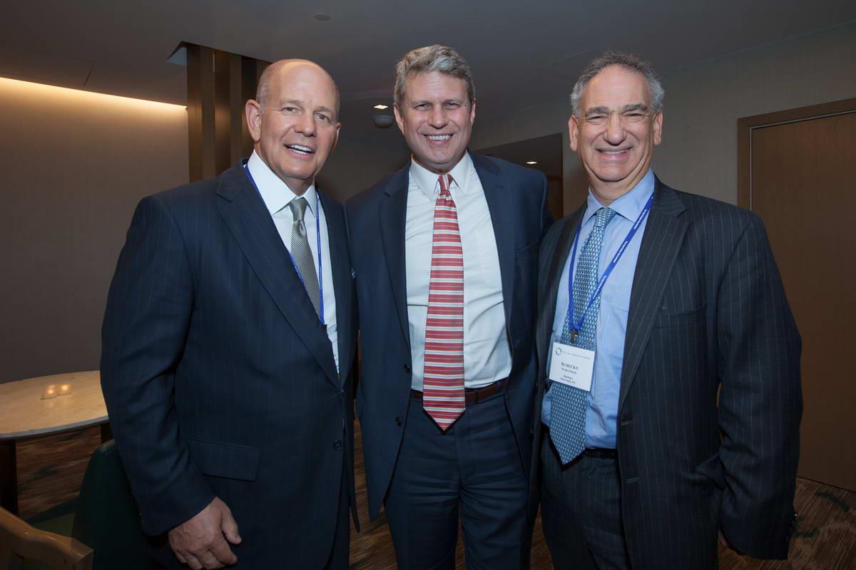 Robert S. Taubman (Taubman Centers, Inc.), Rep. Bill Huizenga (R-MI), Sheridan Schechner (Barclays)
