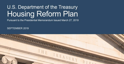 Treasury's Housing Reform Proposal - Sept. 2019