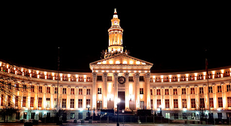 Denver's City and County Building was lit as part of the