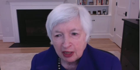 Janet Yellen during Senate Finance Committee confirmation hearing
