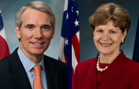 Senators Rob Portman (R-OH) and Jeanne Shaheen (D-NH)