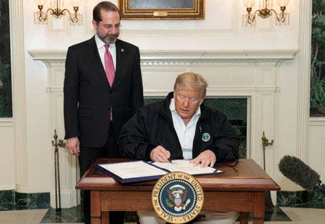 Trump signs Coronavirus bill x475